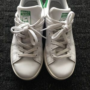 adidas Women's Stan Smith Shoes - White/Green